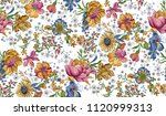 beautiful watercolor flower... | Shutterstock . vector #1120999313