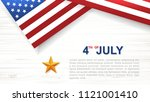 4th of july   background for... | Shutterstock .eps vector #1121001410