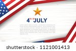 4th of july   background for... | Shutterstock .eps vector #1121001413
