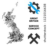 service great britain map... | Shutterstock .eps vector #1121016638