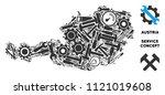 service austria map mosaic of... | Shutterstock .eps vector #1121019608