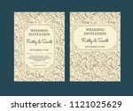 wedding invitations flourishes... | Shutterstock .eps vector #1121025629