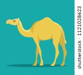Camel Isolated. Vector Flat...