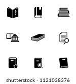 library books icons set  ... | Shutterstock .eps vector #1121038376