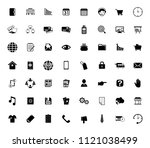 web icons set for computer.... | Shutterstock .eps vector #1121038499