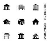 vector building icons set  ... | Shutterstock .eps vector #1121038508