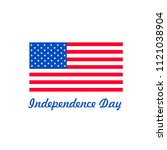 4th of july  american... | Shutterstock .eps vector #1121038904