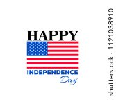 4th of july  american... | Shutterstock .eps vector #1121038910
