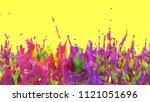 3d rendering of colorful splash....   Shutterstock . vector #1121051696