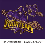 wizard sorcerer esport gaming... | Shutterstock .eps vector #1121057609