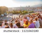 florence  italy   jun 1  2018 ... | Shutterstock . vector #1121063180