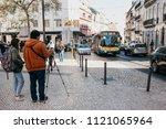 portugal  lisbon  may 1  2018 ... | Shutterstock . vector #1121065964