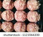 meatballs. prepackaged food....   Shutterstock . vector #1121066330