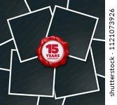 15 years anniversary vector... | Shutterstock .eps vector #1121073926