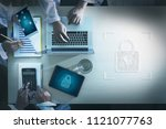 cyber security business... | Shutterstock . vector #1121077763
