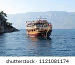 aegean sea  turkey   june 2018  ... | Shutterstock . vector #1121081174