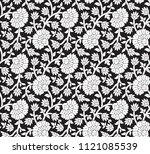 floral and paisley on black | Shutterstock .eps vector #1121085539
