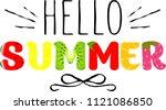 vector hello summer holiday... | Shutterstock .eps vector #1121086850