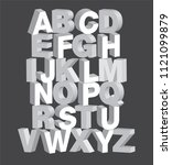 bold 3dimensional 3d typography ... | Shutterstock .eps vector #1121099879