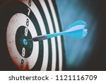 close up shot of the dart arrow ... | Shutterstock . vector #1121116709