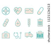 simple set of medical and... | Shutterstock .eps vector #1121126213