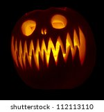 Single Carved Pumpkin With...