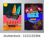 summer sale template banner | Shutterstock .eps vector #1121132306