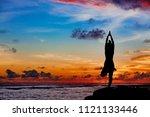Sunset Meditation Silhouette....