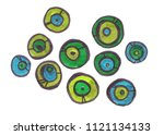 set of different sized abstract ...   Shutterstock . vector #1121134133