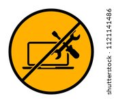 laptop repair service. not... | Shutterstock .eps vector #1121141486