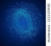 big data visualization. hud... | Shutterstock .eps vector #1121153930