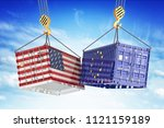 economic trade war between usa... | Shutterstock . vector #1121159189