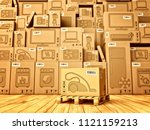 shopping  purchase and delivery ... | Shutterstock . vector #1121159213