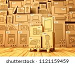 shopping  purchase and delivery ... | Shutterstock . vector #1121159459
