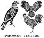 vector illustration of a tribal ... | Shutterstock .eps vector #112116188