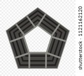 pentagon icon of vector... | Shutterstock .eps vector #1121162120