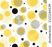 abstract modern yellow  black... | Shutterstock .eps vector #1121164139