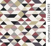 abstract retro style triangles... | Shutterstock .eps vector #1121164193