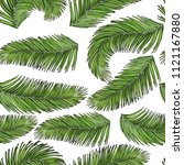 tropical palm leaves seamless... | Shutterstock .eps vector #1121167880