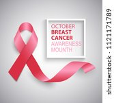 breast cancer awareness ribbon... | Shutterstock .eps vector #1121171789