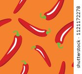 red peppers seamless pattern on ...