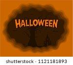 halloween background bats... | Shutterstock .eps vector #1121181893