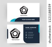 pentagonal chart  business card ... | Shutterstock .eps vector #1121188559