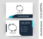 looping arrows  business card...   Shutterstock .eps vector #1121189996