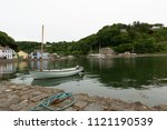 a view of fishguard harbour at... | Shutterstock . vector #1121190539