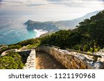 stones steps going to the the... | Shutterstock . vector #1121190968