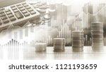 stock market or forex trading... | Shutterstock . vector #1121193659