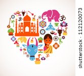 heart with india vector icons | Shutterstock .eps vector #112120073