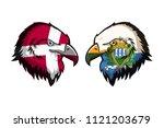 denmark vs san marino | Shutterstock . vector #1121203679