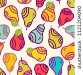 seamless vector pattern with... | Shutterstock .eps vector #1121204090